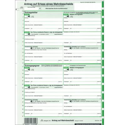 705L für Laserdrucker Mahnbescheid EDV A4 2fach