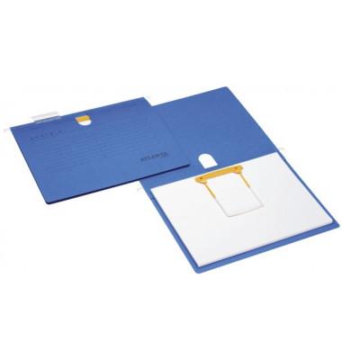 Hängehefter Serie E A4 230g Karton blau Schlauchheftung