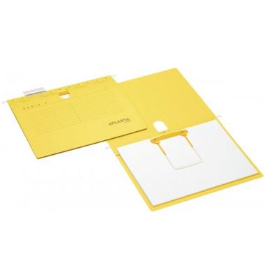Hängehefter Serie E A4 230g Karton gelb Schlauchheftung
