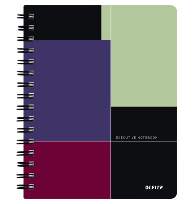 Collegeblock Executive Notebook 4456-00-00, A5 kariert, 90g 80 Blatt, 2-fach-Lochung