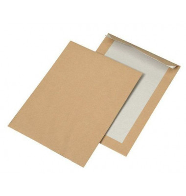 Versandtaschen B5 ohne Fenster mit Papprückwand haftklebend 90g braun 250 Stück