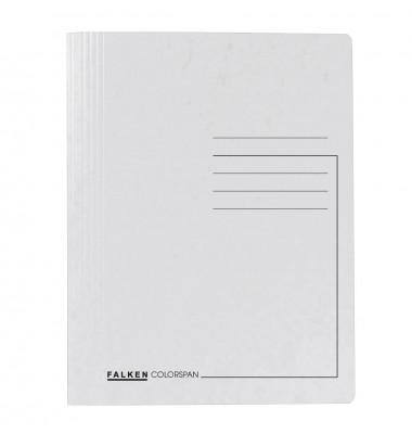 Schnellhefter Colorspan 1128 A4 intensiv weiß 355g Karton kaufmännische Heftung / Amtsheftung bis 250 Blatt