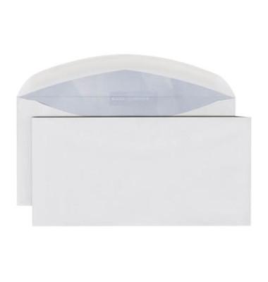 Briefumschläge Premium Din Lang+ ohne Fenster nassklebend 80g hochweiß 500 Stück