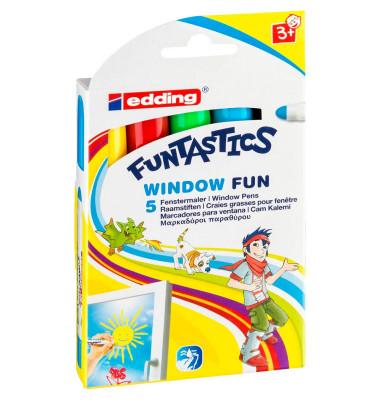 Windowmarker Funtastics 16 5er Etui farbig sortiert 2-6mm Rundspitze