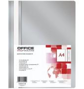 Schnellhefter  21101111 A4 grau PP Kunststoff kaufmännische Heftung bis 200 Blatt