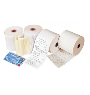 Thermorollen Kern12mm Druck Additionsrolle Thermo 57mm/50m 5ST