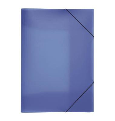 Eckspannmappe 21638 Lucy Trend A3 PP blau