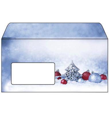 Weihnachtsumschlag Christmas Moments Din Lang 25 Stück mit Fenster DU086