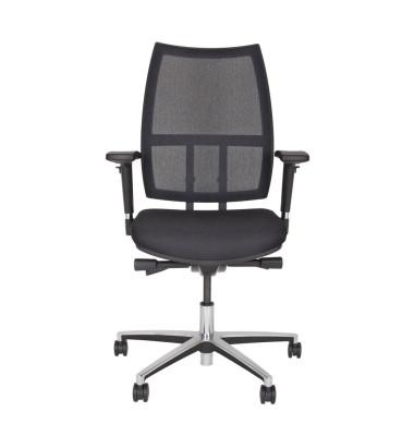 Bürodrehstuhl Maxime, schwarz, netzbespannte Rückenlahne, max.