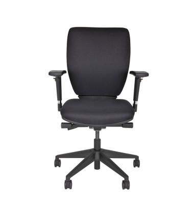 Bürodrehstuhl Optime, schwarz, gepolsterte, höhenverstellbare
