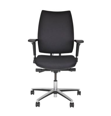 Bürodrehstuhl Upscale, schwarz, gepolsterte Rückenlehne, 1,7 cm