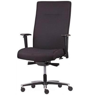 Bürodrehstuhl 5080 Manager XL, schwarz, gepolsterte Rückenlehne,