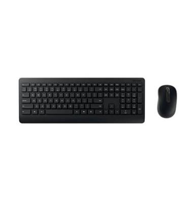 Tastatur-Maus-Set Wireless Desktop 900 PT3-00008, kabellos (USB-Funk), leise, schwarz