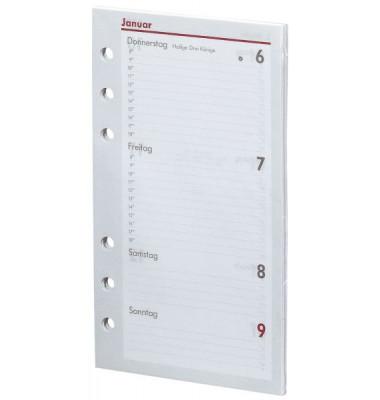 Ersatzkalender Kompakt 1Woche/2Seiten weiß A6 2020