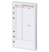 Ersatzkalender Kompakt 1Woche/2Seiten weiß A6  2019