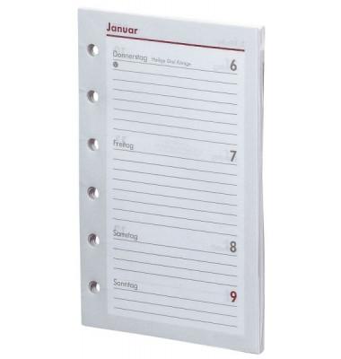 Ersatzkalender Pocket 1Woche/2Seiten weiß A7 2021