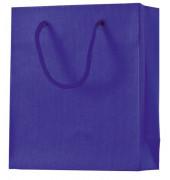 Geschenktragetasche One Colour 21x18x8cm mit Rillenprägung dunkelblau