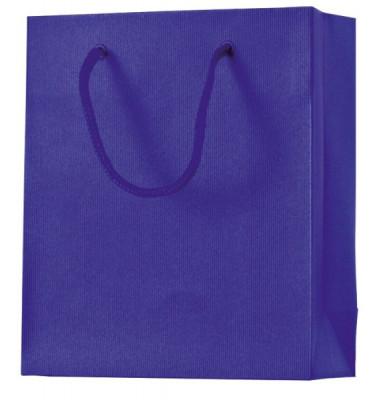 43 7829 42 21x18x8cm Geschenktragetasche Uni d.blau