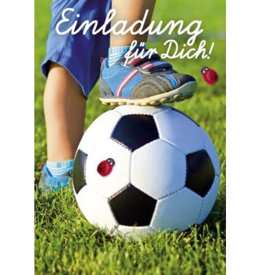 50 006 Fussball Einladung Kinder 8st
