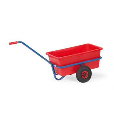 Schiebegriffwagen 4101 90 Liter rote Mulde