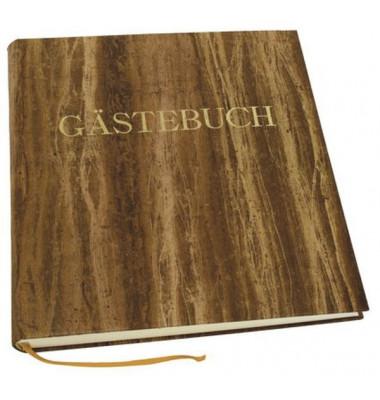 60560 25x26cm Gästebuch Papyrus braun