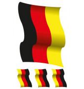 3187   XXL Fensterbild Deutschland-Fahne