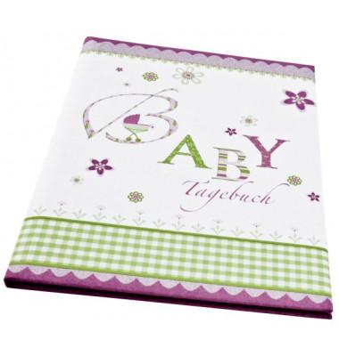 11085 21x28cm Babytagebuch Lovely rosa