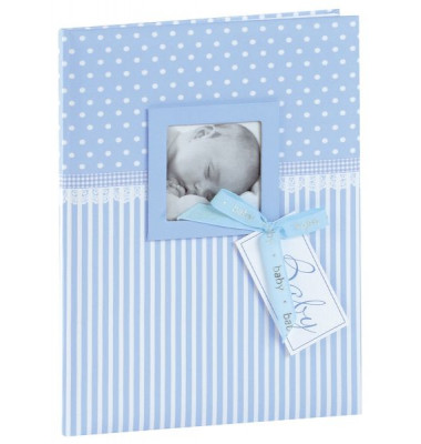 11802 21x28cm Babytagebuch Sweatheart blau