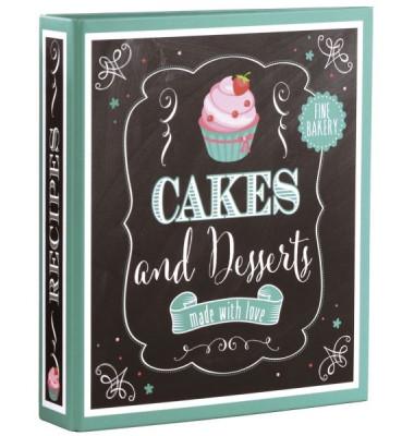 69037 21x22,5cm Kochrezeptordner Cakes&Desserts