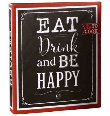 69038 21x22,5cm Kochrezeptordner Eat,drink&be happy