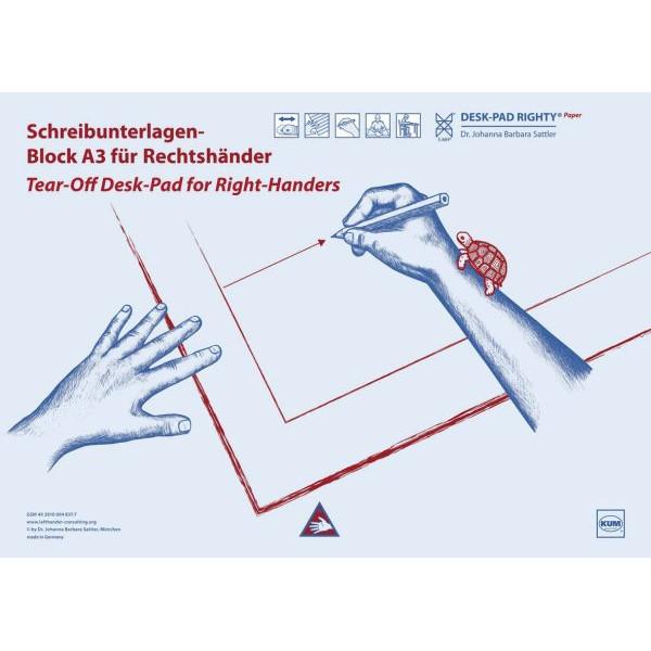 KUM Schreibunterlage Rechtshänder 20Bl Schreibunterlage Papier A3 5120219