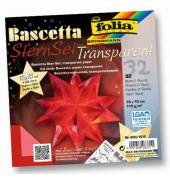 Bastelset Bascettastern rot/transparent Ø 20cm aus 30 Teilen
