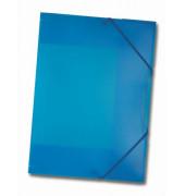 Eckspannmappe 6994 A3 PP blau transparent