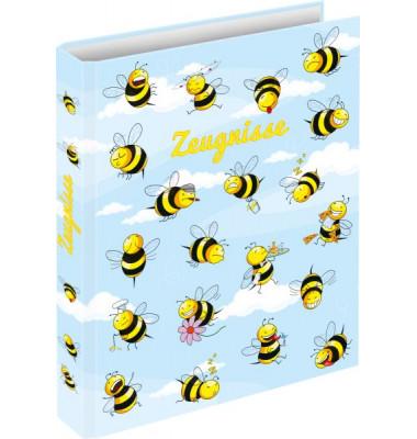 Zeugnismappen-Ringbuch 46495 Crazy Bees A4 4-Ring Ø 20mm