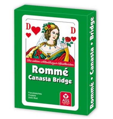 Spielkarten Rommé & Canasta & Bridge französisches Blatt Stülpschachtel