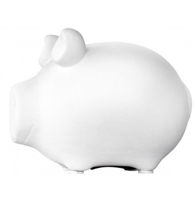 100570 blanco Spardose Schwein weiß