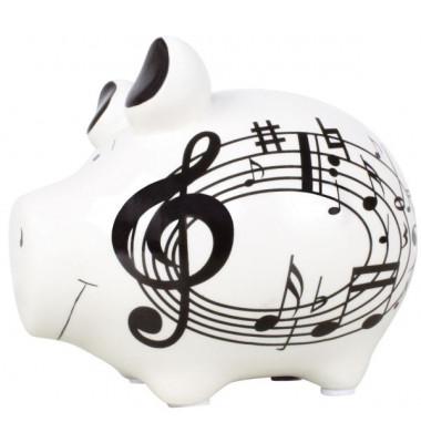 101231 Musikschwein Spardose Schwein klein