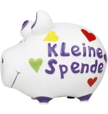 101446 Kleine Spende Spardose Schwein klein weiß