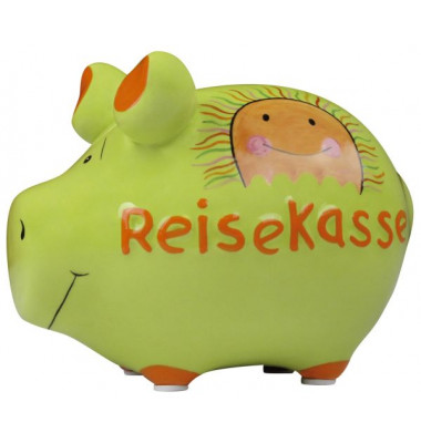 101484   Keramik Spardose Schwein Reisekasse
