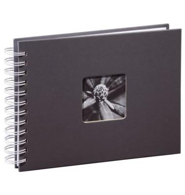 2111 Fotospiralbuch Fine Art grau 24x17cm für 50 Fotos