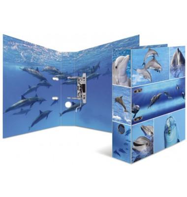 7167 Ordner Tiere A4 Delfine