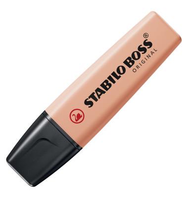 Textmarker Boss Original pastell pfirsich 2-5mm Keilspitze