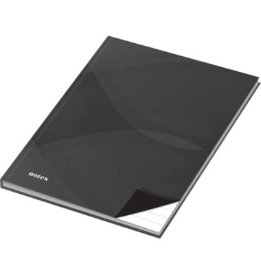 46513 96BL liniert Notizbuch A4 notes carbon black