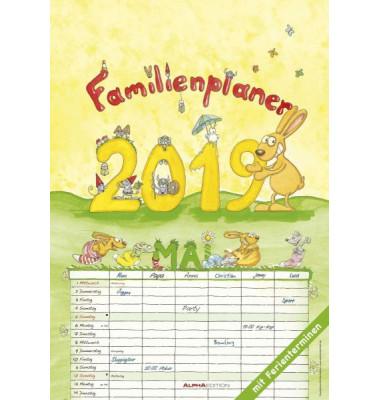 Familienplaner Cartoons 1Monat/1Seite 23,7x34cm 6-spaltig 2021