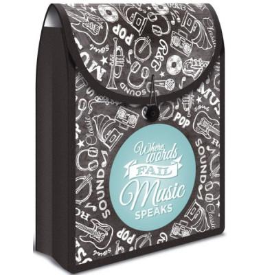 Collegetasche Flexi Bag - A4, schwarz/blau