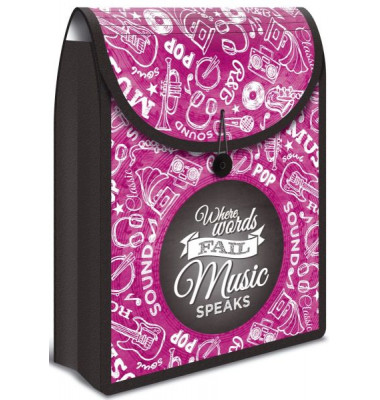 Collegetasche Flexi Bag - A4, pink