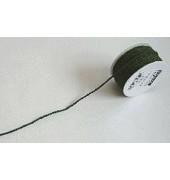 Seidenkordel - 3 mm x 25 m, dunkelgrün