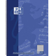 Collegeblock Noten 100050345, A4+ Notenlinien, 90g 50 Blatt, 4-fach-Lochung
