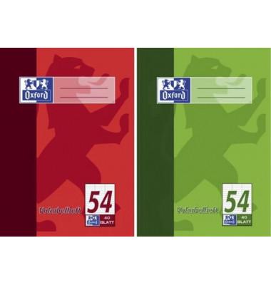 Vokabelheft A5 Lineatur 54 liniert 3 Spalten weiß 40 Blatt