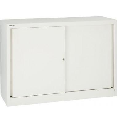Aktenschrank ECO SD412081S696, Stahl abschließbar, 2 OH, 120 x 83,9 x 43 cm, weiß